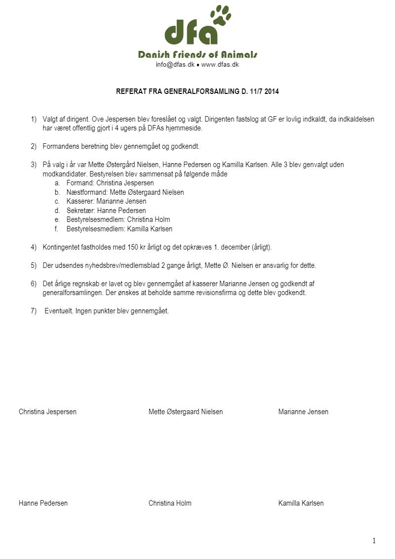 Referat Juli 2014